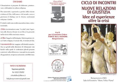 """Gruppo di Borgamanero – ciclo di 3 incontri """"Nuove relazioni di giustizia"""""""