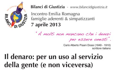 Bologna –  il denaro: per un uso al servizio della gente (e non viceversa)