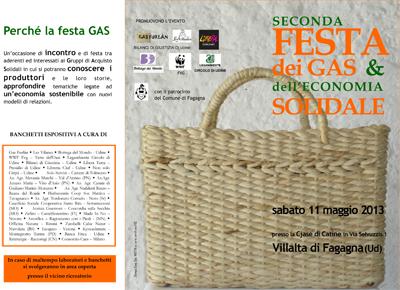 Festa dei GAS e dell'Economia Solidale – 11/5/2013 – a Villata di Fagagna