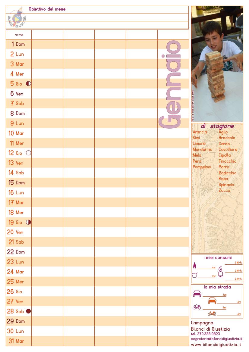 Calendario bilancista 2017